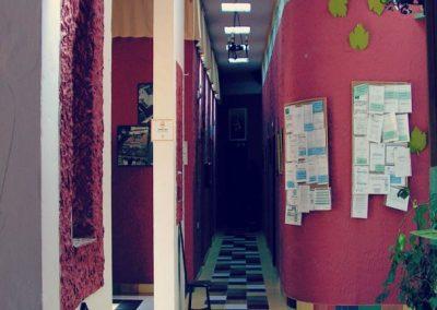Entrada y zona de administración